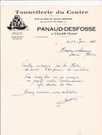 18-Panaud-Desfosse Tonnellerie Du Centre,Futs En Bois...Culan (Cher) 1935 - Petits Métiers