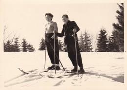 67. CHAMP DU FEU. 6  PHOTOS . LES JOIES DU SKI . FEVRIER 1952. FORMAT 10 X 7.2 - Places