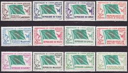 FRENCH AFRICA - 1962 - ANNIVERSAIRE DE L'UNION AFRICANE ET MALGACHE - COMPLETE SET - MNH** LUX - France (former Colonies & Protectorates)
