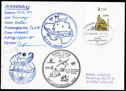 "Germany,""POLAR 2 - DROMLAN- Flight"" Base GnN Tp Kottas-Camp,sign Pilot, 3 Cachets!! Look Scan,RARE !! 26.3-06 - Timbres"