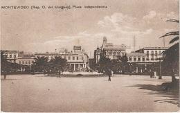 AK Montevideo Plaza Independencia Hotel A Ciudad Vieja Avenida Calle Juncal Florida Uruguay Uruguai America Del Sur - Uruguay