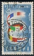 1957 - ITALIA / ITALY - EUROPA CEPT. USATO - Europa-CEPT