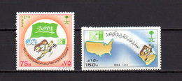 Saudi Arabia 1994 Football Soccer World Cup Set Of 2 MNH - World Cup