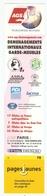 MARQUE PAGE - AGS WORLWILDE MOVERS - DÉMÉNAGEMENTS INTERNATIONAUX PARIS GENNEVILLIERS - PAGES JAUNES - Bookmarks