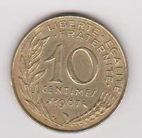 1967 Francia - 10 C Circolato (fronte E Retro) - D. 10 Centesimi