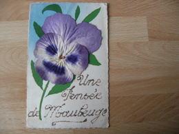 Une Pensee De Maubeuge  Ajout Brillant Fleur En Tissu - Maubeuge