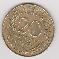 1963 Francia - 20 C Circolato (fronte E Retro) - E. 20 Centesimi