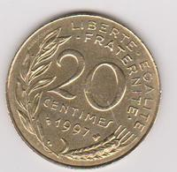 1997 Francia - 20 C Circolato (fronte E Retro) - E. 20 Centesimi