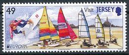 "Jersey 2012: ""Surfing, Sailing & Windsurfing"" Michel-No. 1615 ** MNH - START BELOW POSTAL FACE VALUE (£ 0.49) - Ski Nautique"