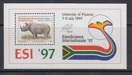 South Africa 1997 Esi / Black Rhino M/s ** Mnh (41360) - Blokken & Velletjes