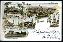 Domazlice, 4.3.1899, LITHO, Gruss, Pozdrav, Plzensky Kraj, Böhmen, Karel Schnabl - Tschechische Republik