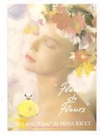 """Publicite Cartonnée """" Fleur De Fleurs """" Nina Ricci - Photo D.Roy - Format 14,5 X 21 Cm - Années 1970 - - Other"""