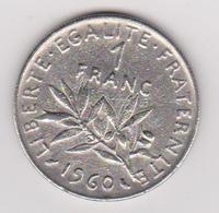 1960 Francia - 1 F Circolato (fronte E Retro) - Francia