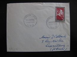 S/L 354 - TB Enveloppe Affranchie Avec N° 934 ;  De Paris 1° Jour Pour Le Luxembourg ( 18/10/1952) - Marcophilie (Lettres)