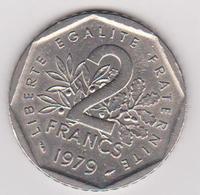 1979 Francia - 2 F Circolato (fronte E Retro) - H. 1 Franco