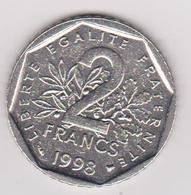1998 Francia - 2 F Circolato (fronte E Retro) - H. 1 Franco