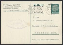 36de.Postkarte 1939 Gelangte Die Post Von Der Stadt Bautzen In Die Stadt Wiltchen. Tischwäsche Bestellen - Covers & Documents