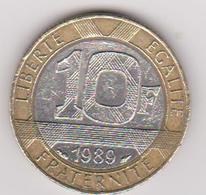 1989 Francia - 10 F Circolato (fronte E Retro) - K. 10 Franchi