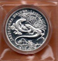 POLEN 20 ZLOTYCH 2009 ZILVER PROOF GREEN LIZARD SALAMANDER - Pologne