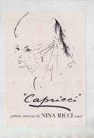 Parfum Nouveau De Nina Ricci Capricci 1961 - Publicidad