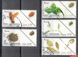 Bosnia Sarajevo - Flora Condiment Plants 2017 Used Set - Bosnie-Herzegovine