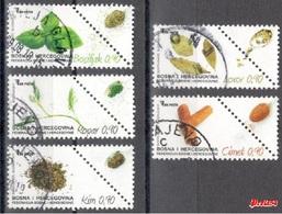 Bosnia Sarajevo - Flora Condiment Plants 2017 Used Set - Bosnia And Herzegovina
