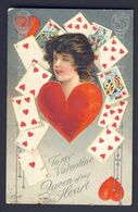 PLAYING CARD CARDS Heart Hearts Lady ~ To My Valentine Queen Of My Heart Silver - Playing Cards