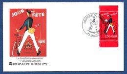 Enveloppe 1er Jour  / Distribution Du Courrier / Nancy / 6 Mars 1993 - 1990-1999