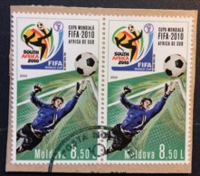 Moldova Used On Paper 2010 Football World Cup - South Africa, Soccer - Moldova