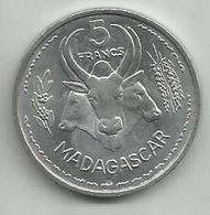 Madagascar 5 Francs 1953. KM#5 - Madagascar