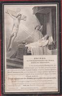 Norbert De Thysebaert Bruxelles Gand 1875 Gent Dopter Paris Zeer Oud Doodsprentje Image Mortuaire (Beschadigd) - Devotion Images