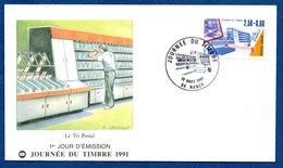 Enveloppe 1er Jour  / Le Tri Postal / Nancy / 16 Mars  1991 - FDC