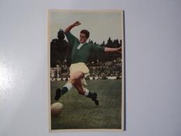 CARTE FOOTBALL HERBIN. ANNEES 60. TACKLE EN ELONGATION. MIROIR SPRINT - Football
