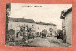 CPA - REHAINCOURT (88) - Aspect De La Rue De L'Eglise En 1930 - Autres Communes