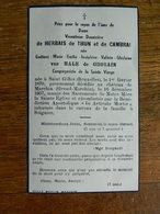 ST GILLES + GRAND MARCHIN:VICOMTESSE DE HERBAIS DE THUN ET DE CAMBRAI  INHUMEE A SOIGNIES 1870-1957 - Devotion Images
