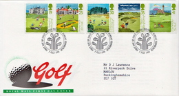 Great Britain Set On Used FDC - Golf