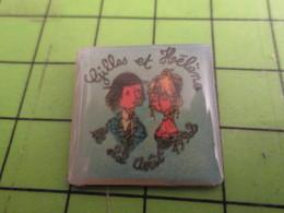 313E Pin's Pins / Rare Et De Belle Qualité !!! THEME AUTRES : MARIAGE GILLES ET HELENE 1992 AMOUREUX DE PEYNET ? - Música