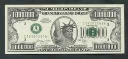 """Billet De Banque Fantaisie Américain """"1000000$ / One Million Dollars / 1996"""" Statue De La Liberté / New-York - Etats-Unis"""
