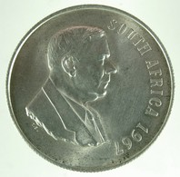 """South Africa 1 Rand 1967 (english) """"1st Anniversary - Death Of Dr. Verwoerd"""" - KM# 72.1 - Sud Africa"""
