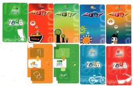 Zakkalender 9 Stuks/pcs Calendrier De Poche Pocket Calendar Taschenkalender Costa Brava Campings Spanje Spain - Calendriers
