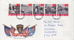 Great Britain Set On Used FDC - WW2