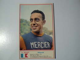 CARTE CYCLISME A. BOUVET. 1960. EQUIPE MERCIER. MIROIR SPRINT - Cyclisme
