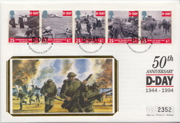 Great Britain Set On Silk FDC - WW2