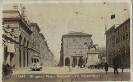 BOLOGNA PIAZZA GARIBALDI - VIA INDIPENDENZA 1929 ANIMATA TRAMWAY - Bologna