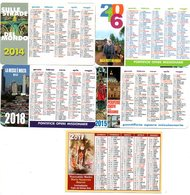 Zakkalender 5 Stuks/pcs Calendrier De Poche Pocket Calendar Taschenkalender Missie Religie Religion Missio Kalender - Calendriers