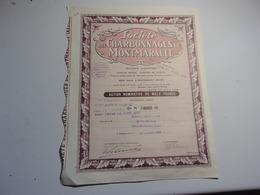 CHARBONNAGES DE MONTMARAULT (1942) ALLIER - Aandelen