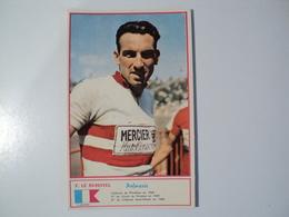 CARTE CYCLISME F. LE BUHOTEL. 1960. EQUIPE MERCIER BP HUTCHINSON. MIROIR SPRINT - Ciclismo