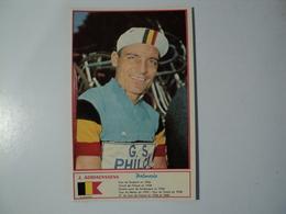 CARTE CYCLISME J. ADRIAENSSENS. 1960. MIROIR SPRINT - Cyclisme
