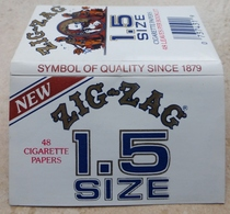 """Carnet De Papier à Cigarettes """"  ZIG ZAG   """"  New 1.5 Size - Symbol Of Quality Since 1879 - Empty Cigarettes Boxes"""
