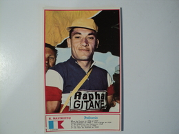 CARTE MIROIR SPRINT. CYCLISME. R. MASTROTTO. 1960 RAPHA GITANE. - Wielrennen